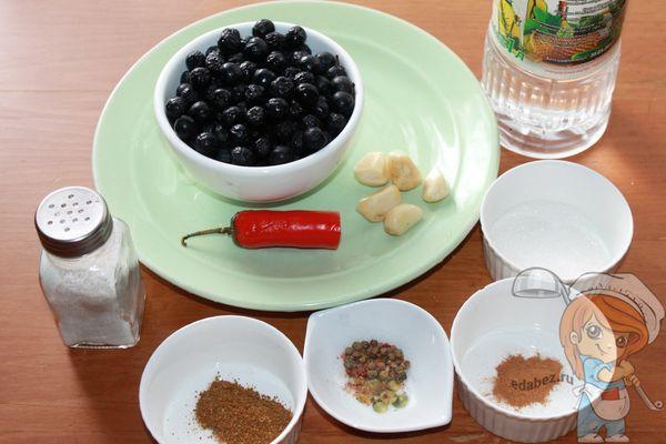 ингредиенты для рябинового соуса