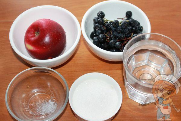 Ингредиенты для компота из рябины