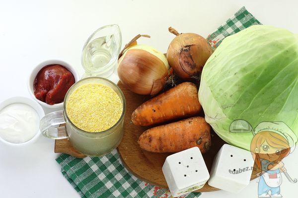 ингредиенты для овощных голубцов