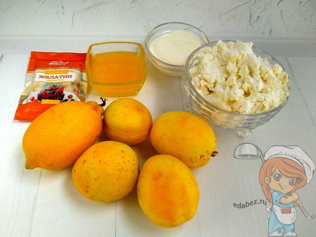 Продукты для творожного десерта с желатином