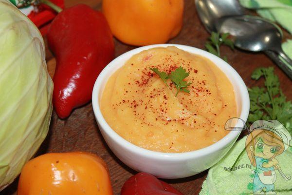 суп пюре из капусты и перца