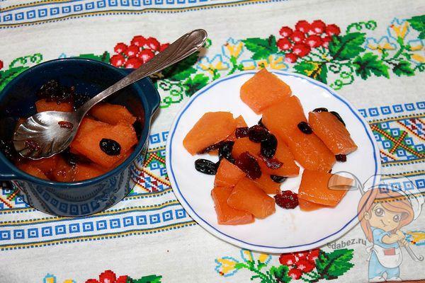 тыква запеченная в духовке сладкими кусочками