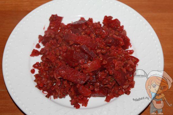 Порция гречотто с овощами