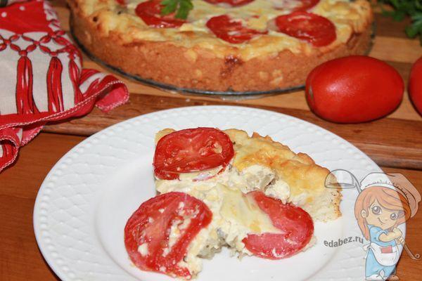 пирог с помидорами и луком