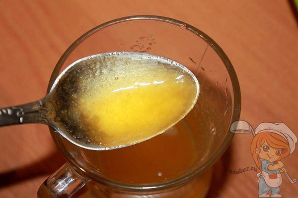 разводим мед водой