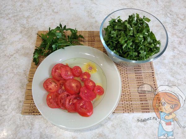 Щавель и помидоры