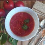 Томатный суп с базеликом