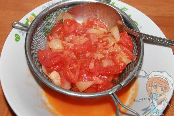 избавляемся от сока с томатов