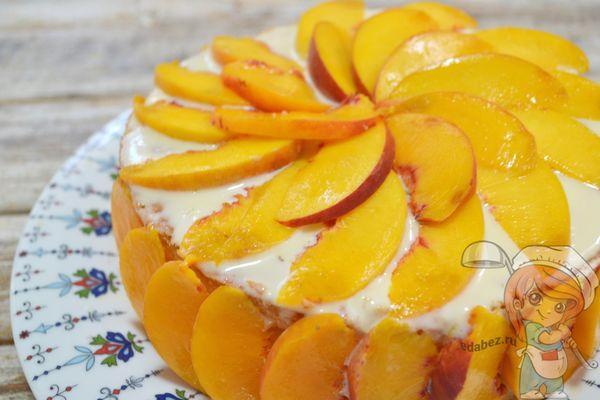 Бисквитный торт с бананами фото