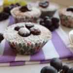 Бисквитные пирожные с виноградом