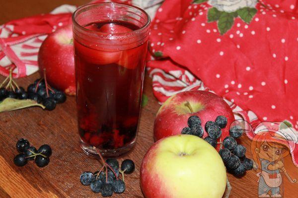 компот из рябины и яблок