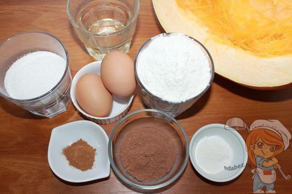 продукты для шоколадного кекса