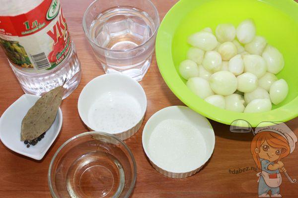 Ингредиенты для маринования лука