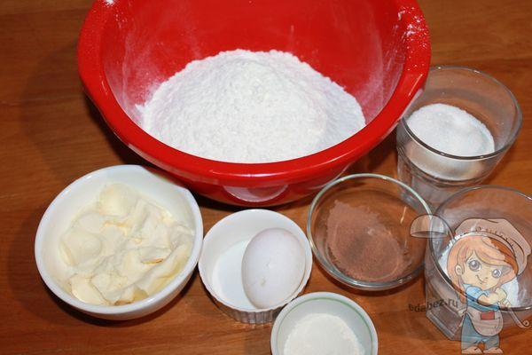 продукты для приготовления печенья