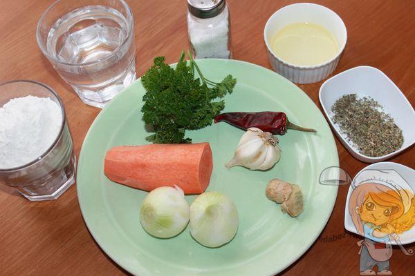 Ингредиенты для бхаджи
