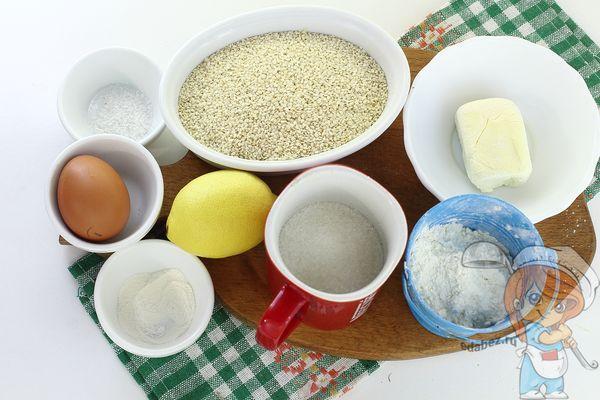 Продукты для кунжутного печенья