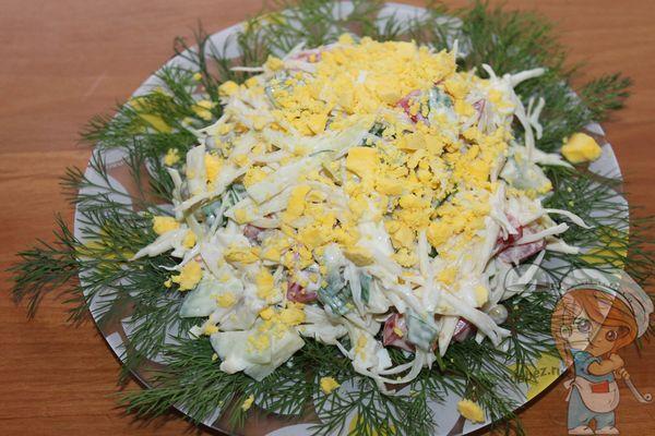 оформляем салат