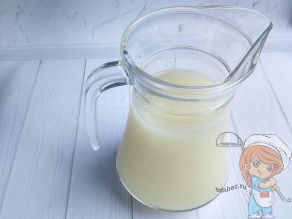 Кувшин с молоком из дынных косточек