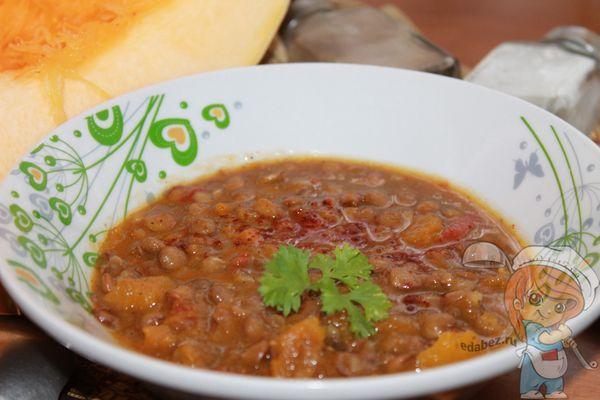 Суп с тыквой и чечевицей рецепт приготовления