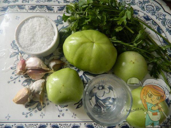 Продукты для фаршировки зеленых помидоров