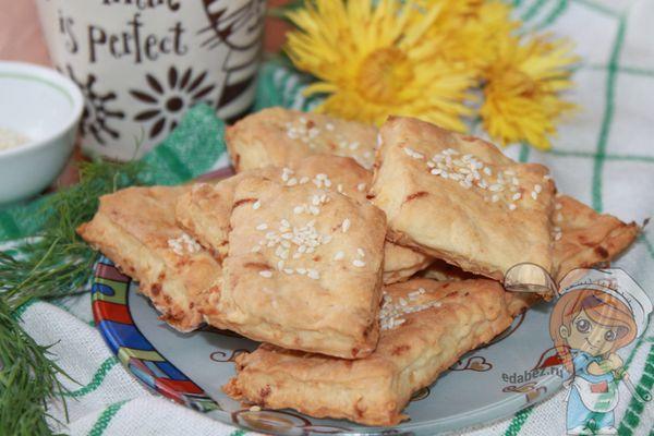 песочное печенье с луком рецепт