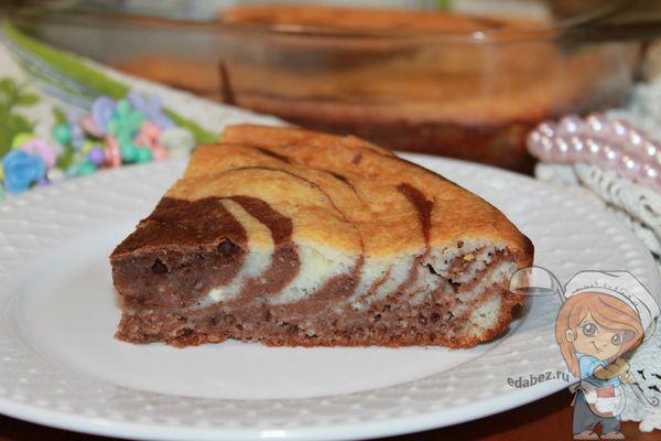 Творожный пирог зебра рецепт с фото