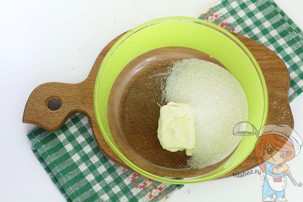 Масло с ванилином и сахаром