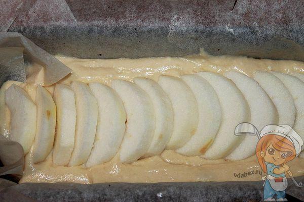 Слой яблочных долек