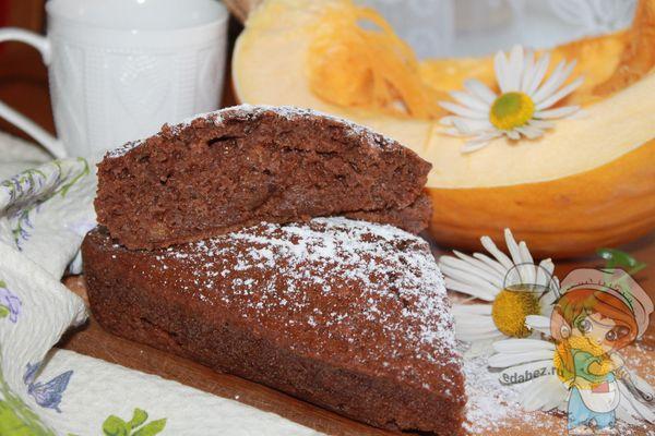 тыквенно-шоколадный кекс рецепт с фото