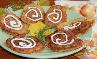 луковые оладьи на сковороде рецепт