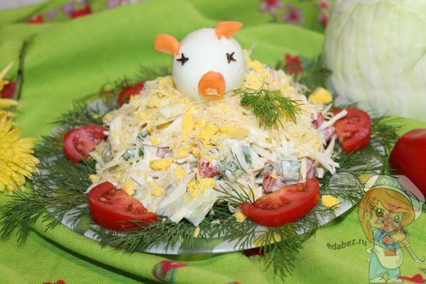 Салат свинья в огороде рецепт с фото