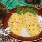 салат шишка рецепт с кукурузными хлопьями