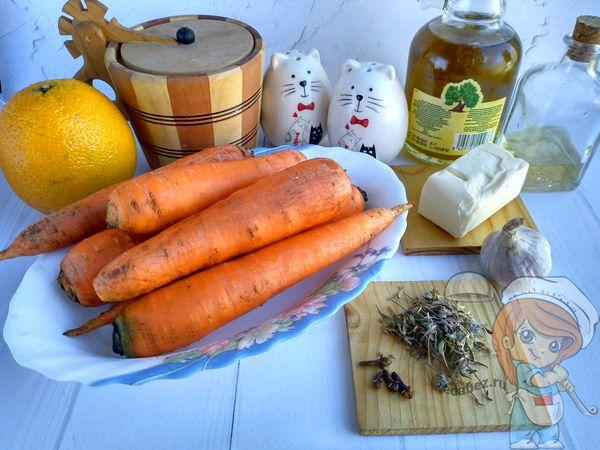 продукты для глазирования моркови