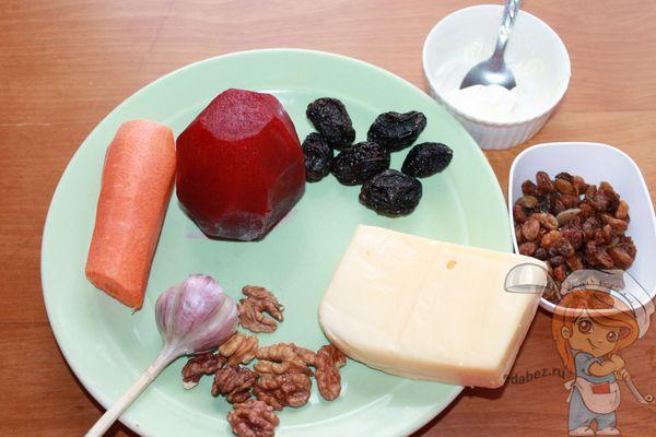 Продукты для салата Любовница