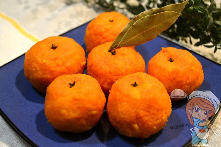 Закуска мандарины из моркови