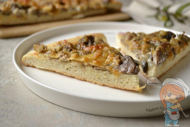 Пицца без дрожжей. Тесто на воде