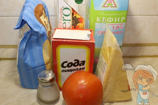 Ингредиенты для пиццы без дрожжей