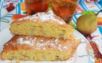 кукурузный пирог с грушами - рецепт с фото