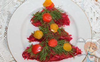 новогоднее оформление салата