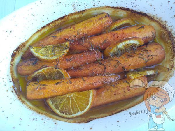 запеченная морковь с апельсином