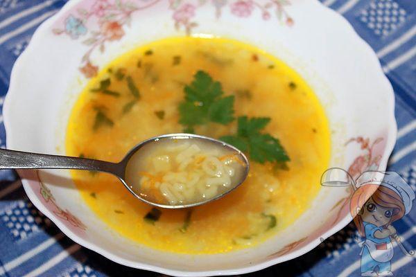 детский суп с макаронами алфавит