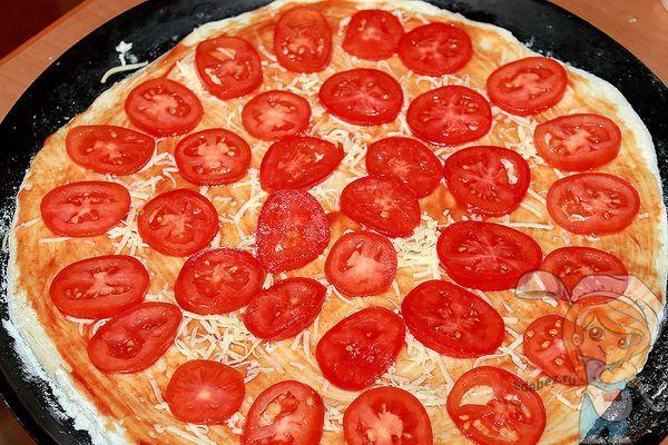 выкладываем помидоры