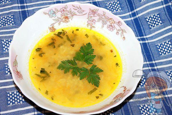 суп с буквами из макарон