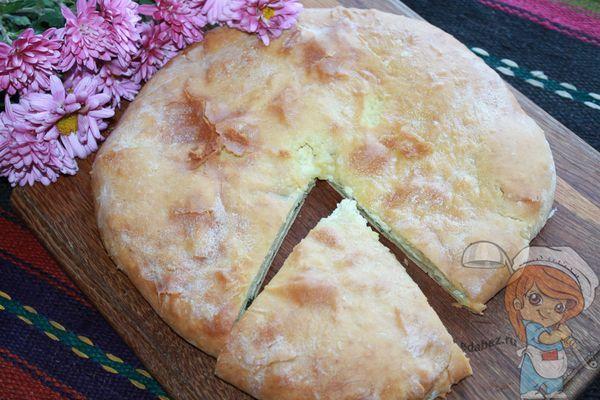 Круглый осетинский пирог с сыром рецепт