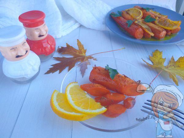 рецепт запеченной глазированной моркови