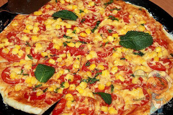 пицца без дрожжей на воде