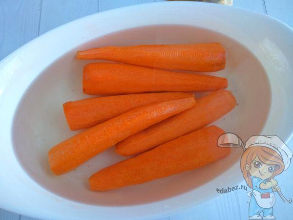 морковь в воде