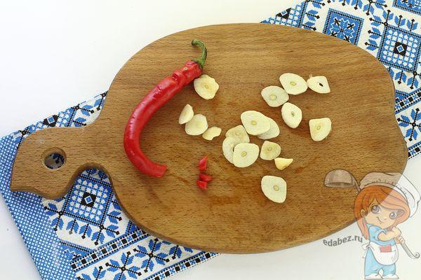 перец и чеснок