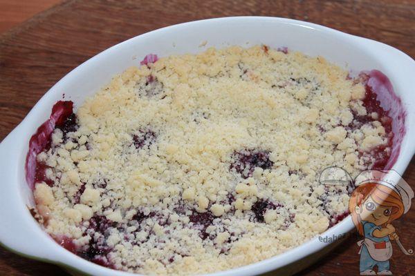 ягодный крамбл рецепт с фото