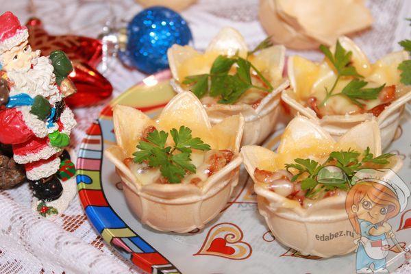 Тарталетки с сыром в духовке